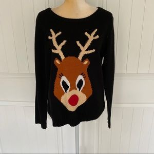 Rudolf Christmas sweater By Design size Large